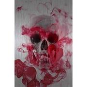 Skull 2 Art Print on Brushed Aluminum