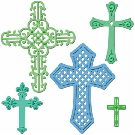 Spellbinders Shapeabilities Dies, Crosses Spellbinders Impressabilities Die