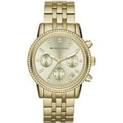 Michael Kors Women's NEW (MK5698) GOLD RUNWAY CHRONOGRAPH STAINLESS STEEL WATCH