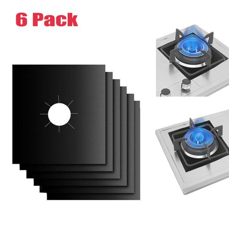 """Gas Range Protectors, EEEKit Stove Burner Covers Reusable Liner Covers, 10.6"""" X 10.6"""", Non-stick Double Thickness 0.2MM, Non-Stick, Fast Clean,Dishwasher Safe, -"""