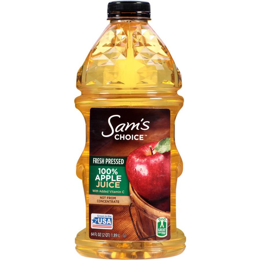 Great Value: 100% Apple Juice, 64 Oz