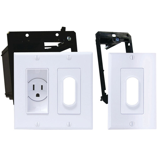 Midlite 2a4641-1g-w Dᅢトᅢᄊcor Recessed Receptacle Kit & Wireport with Grommet