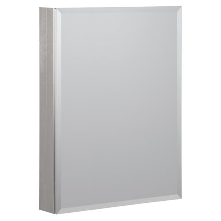 Brushed Nickel Medicine Cabinet (Foremost 23W in. Aluminum Mirrored Medicine)