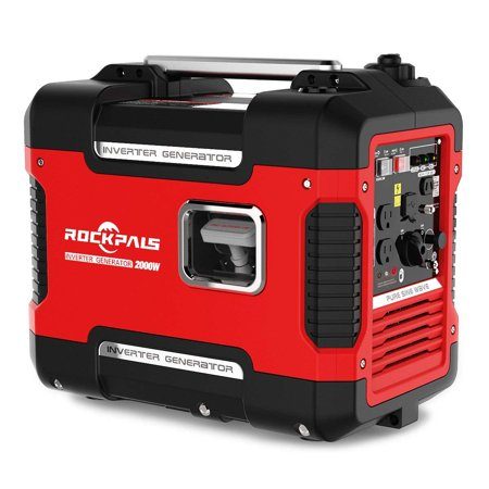 Rockpals 2000Watt Super Quiet Portable Generator Gas Powered Inverter Generator With 9 Hours Run time, CARB Complaint With Eco-Mode Generator For Emergency /Home /
