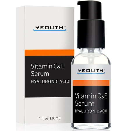 Vitamin C Serum with Vitamin E and Hyaluronic Acid from YEOUTH 1 fl. oz. (30ml) (Vitamin C Serum Acne)
