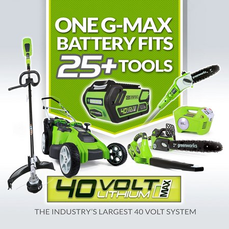 Greenworks CS40L210 G-MAX 40V 14-Inch Cordless Chainsaw, 2Ah Battery and Charger Included