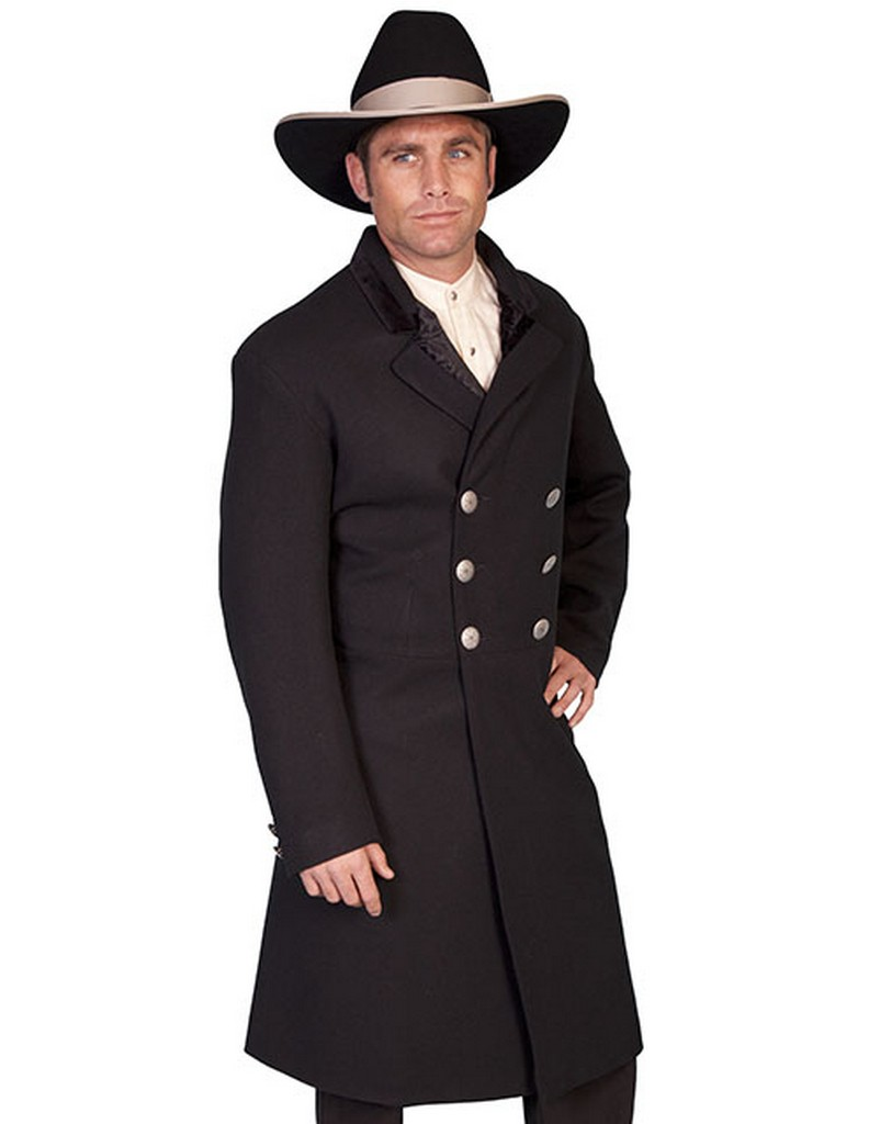 Scully Western Coat Mens Wool Double Breasted Button Front 511029 by Scully