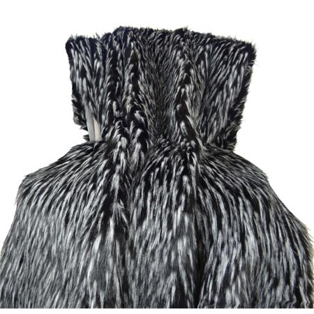 Plutus Wolf Fur Handmade Throw, (Throw 48W x 60L) - image 1 of 1