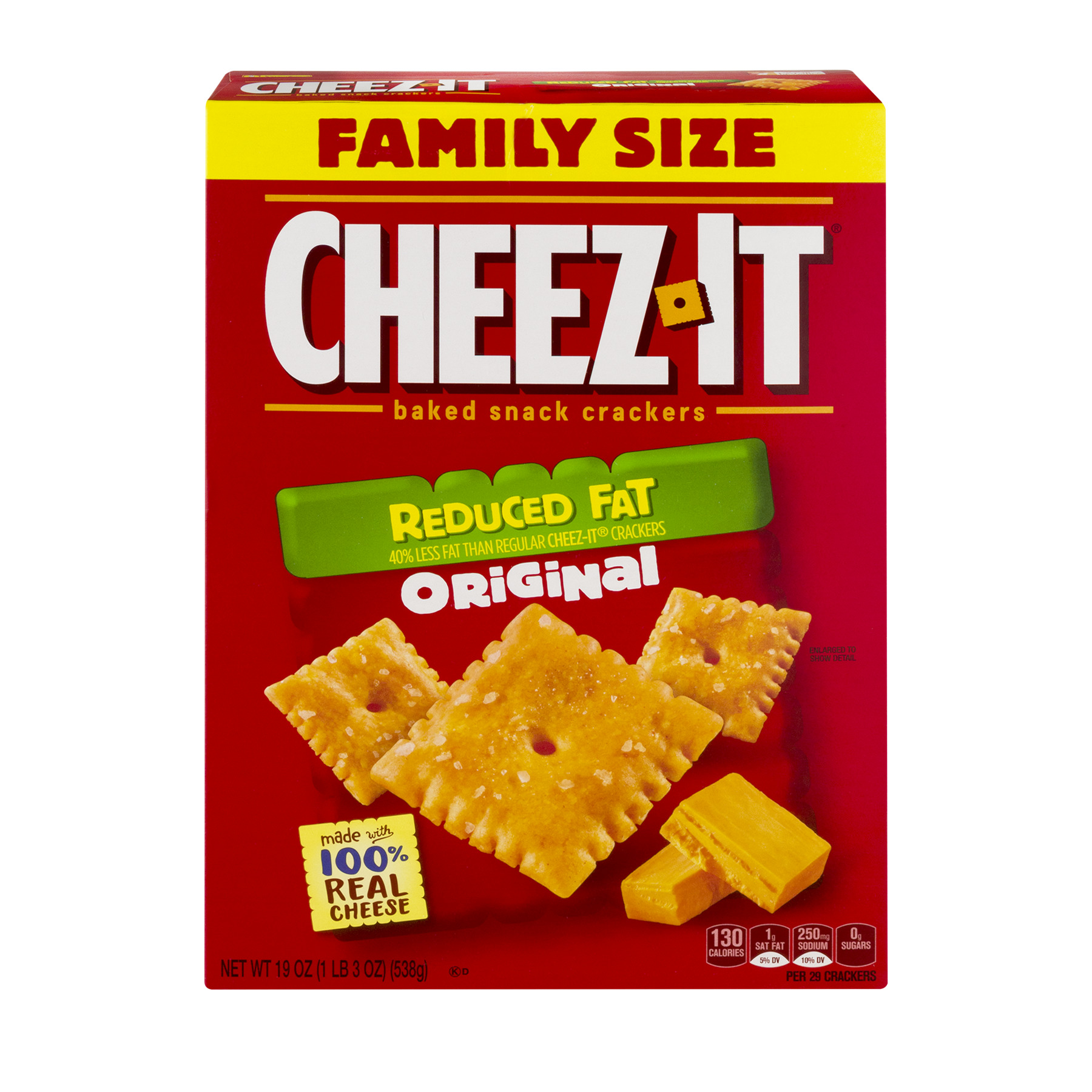 Cheez-It® Reduced Fat Original Baked Snack Crackers 19 oz. Box