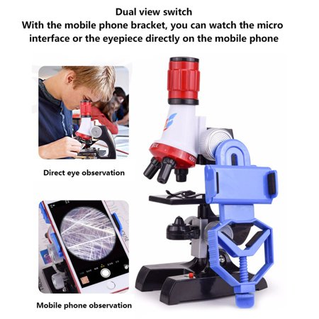 Children Microscope Neutral Plastic 1200X Science Experiment Teaching Aid - image 1 of 6