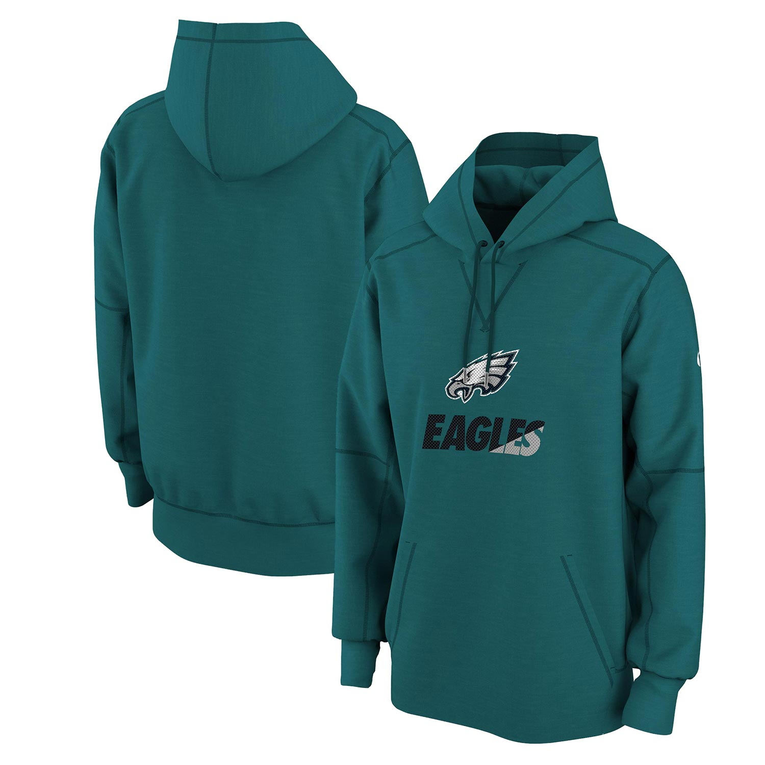 Philadelphia Eagles Nike Wedge Performance Pullover Hoodie - Green