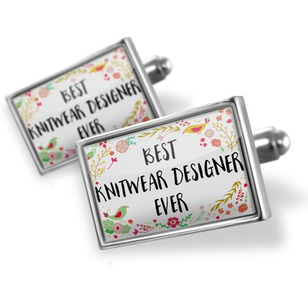 - Cufflinks Happy Floral Border Knitwear Designer - NEONBLOND