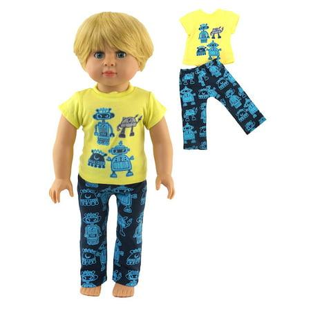Robot Pajamas   Fits 18