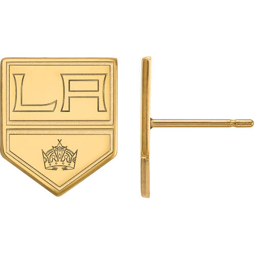 NHL Los Angeles Kings 10kt Yellow Gold Small Post Earrings