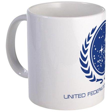 CafePress - Star Trek; United Federation Of Planets Mug - Unique Coffee Mug, Coffee Cup (Star Trek Transporter Heat Changing Coffee Mug)