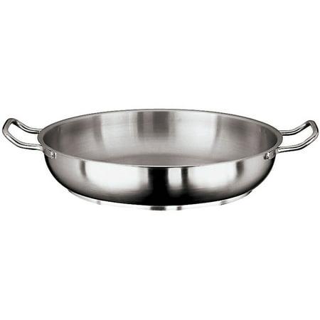 World Cuisine Stainless Steel Paella Pan - Paderno World Cuisine Grand Gourmet #1100 Paella Pan, 14.12