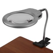 Clip Metal Led Light Lamp Magnifier 2x 5x Magnifying Gl Clamp On Desk