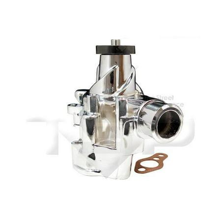 TSP Sbc Long Water Pump, Chromed Aluminum Finish