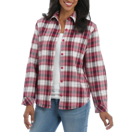 Cotton Flannel Liner (Lee Riders Women's Fleece Lined Flannel)