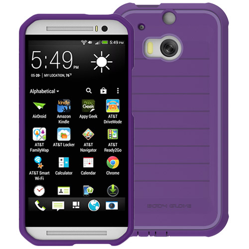 Body Glove ShockSuit Case for HTC One M8 (Plum Lavender) by Body Glove