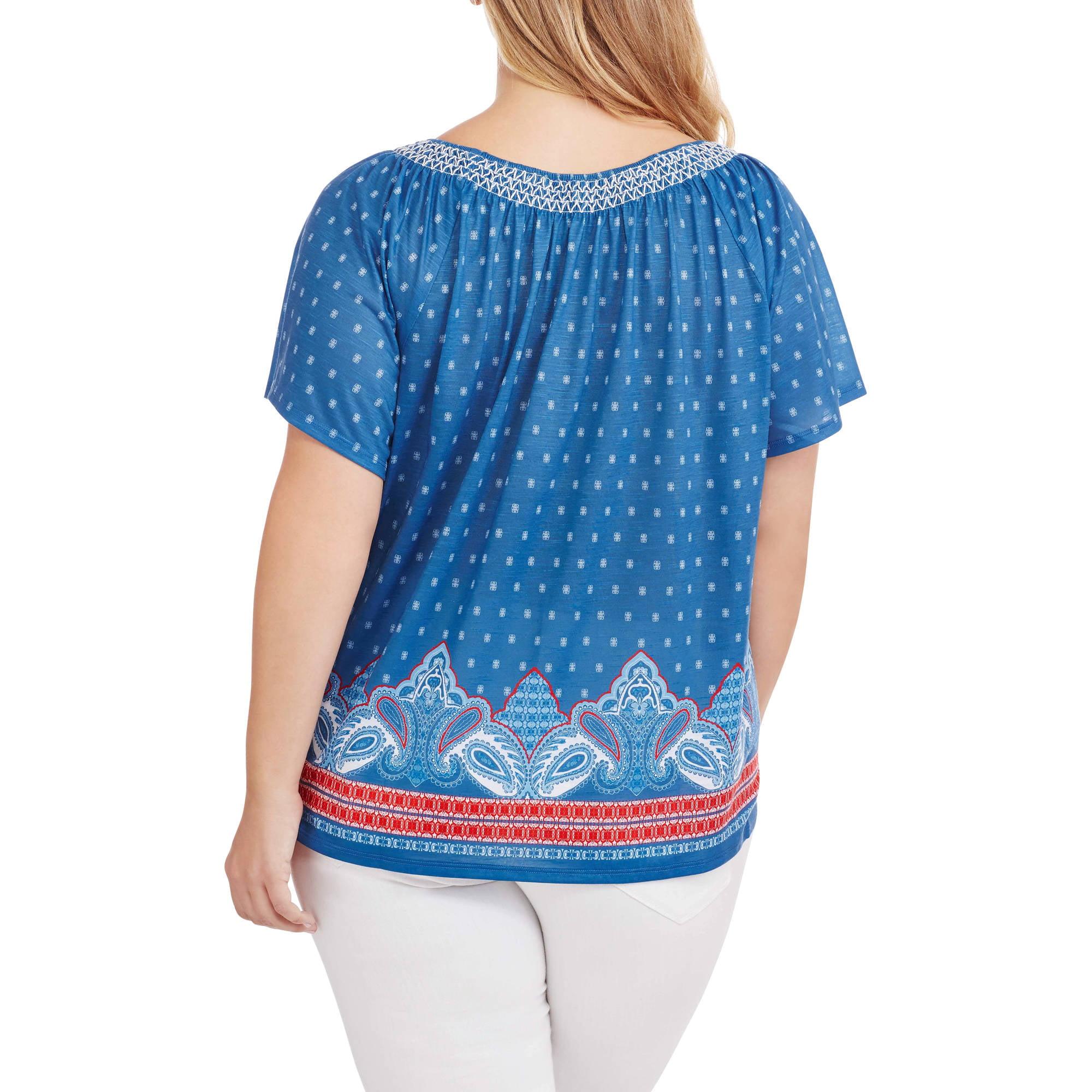 Erika Women's Plus Sookie Bandana Knit Top