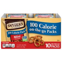 Snyder's of Hanover Mini Pretzels, 100 Calorie Individual Packs, Multipack 10 Ct