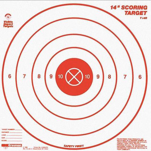 """Crosman Visible Impact 14"""" Range Shooting Targets, 3pk"""