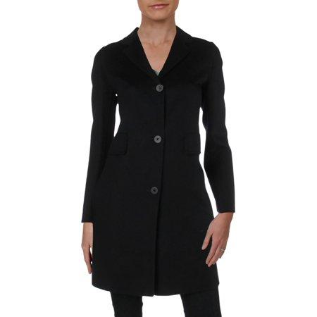 Double Breasted Mid Length Coat - MaxMara Studios Womens Rodano Double Breasted Mid-Length Wool Coat Navy 2