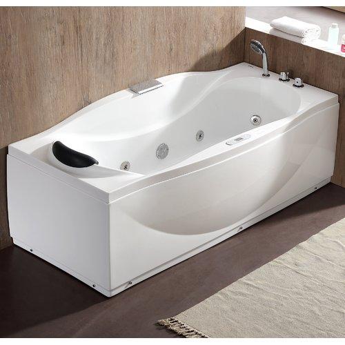 EAGO 70.5'' x 31.9'' Freestanding Whirlpool Bathtub