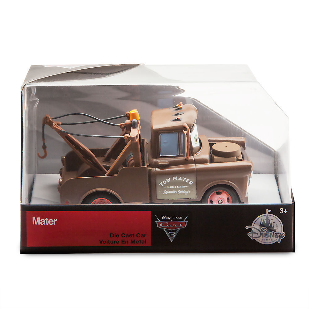 "Tow Truck Mater 1:43 Die Cast Car Disney Pixar ""Cars 3"" Cartoon Character Animated Film Movie Merchandise Deluxe Collectible Toy Vehicle Diecast"