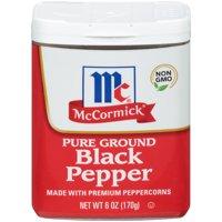 McCormick Ground Pepper Black, 6 oz