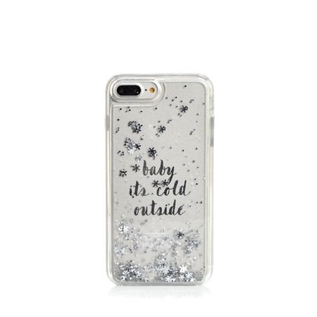Kate Spade New York Baby It's Cold Outside Clear Liquid Glitter Case for iPhone 8 Plus/iPhone 7