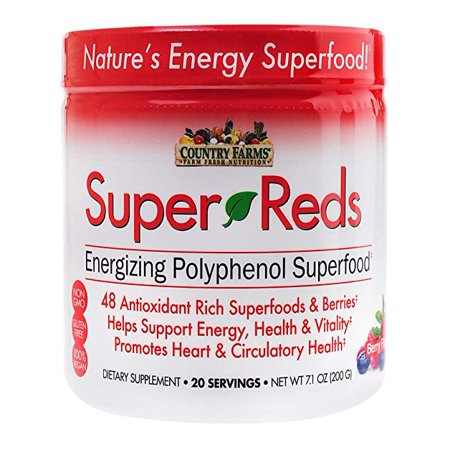 2 Pack Country Farms Super Reds Berry Flavor 7.1 Ounces each