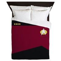 CafePress - Star Trek: TNG Uniform Captain - Queen Duvet Microfiber