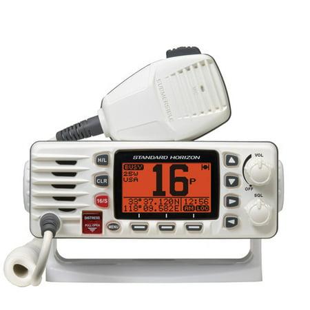 (Standard Horizon Eclipse GX1300 White Fixed Mount VHF with Large Dot Matrix LCD)