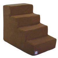 Majestic Pet Portable Suede Pet Stairs Soft Sherpa Foam Step Steps for Dogs & Cats Perfect for Bed & Sofa