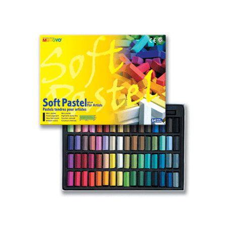 Mungyo Gallery Standard Soft Pastels Cardboard Box Set of 64 Half Sticks - Assorted - Pastel Color