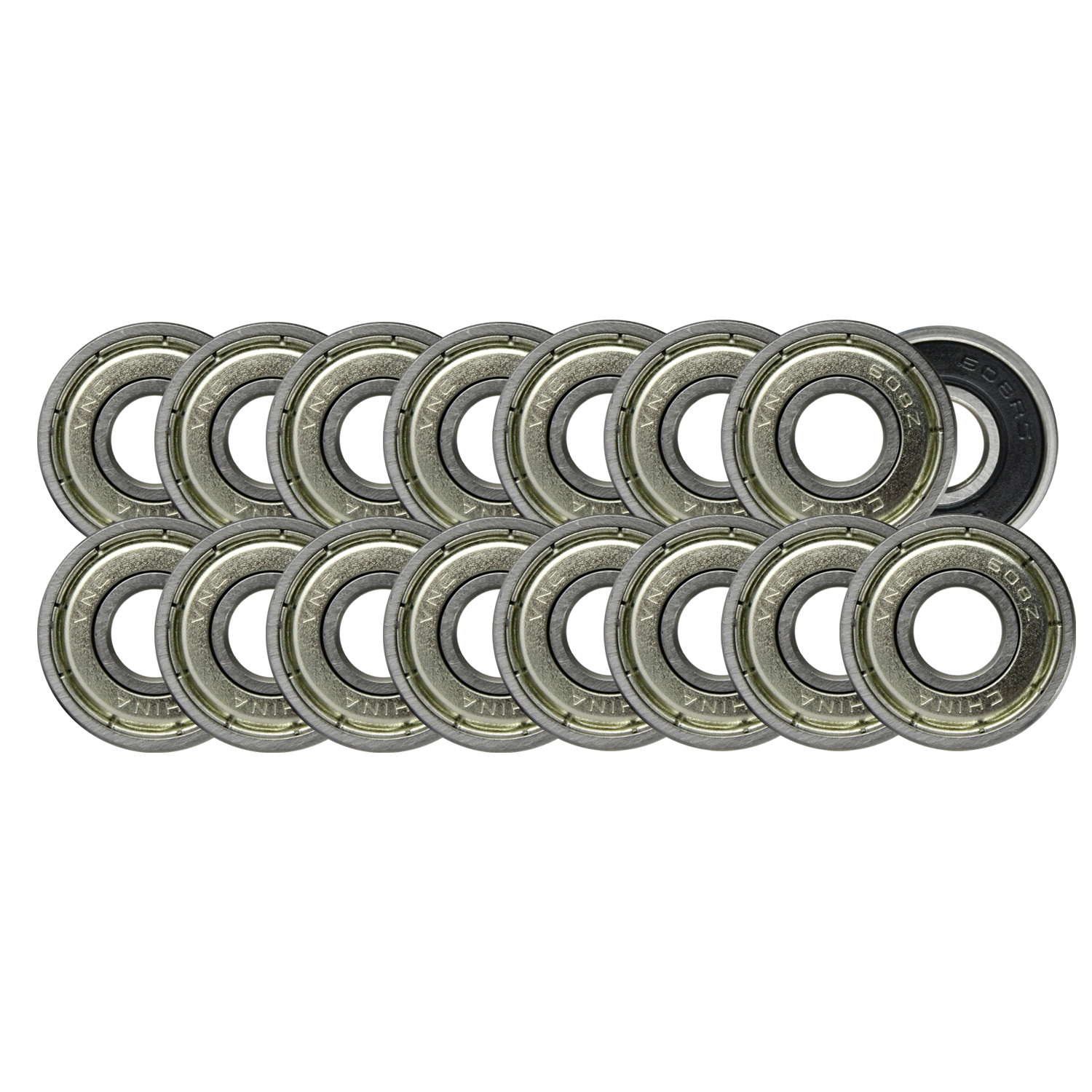608ZZ Precision Skateboard Bearings 8x22x7mm Double Shielded Silver (Pack of 20)