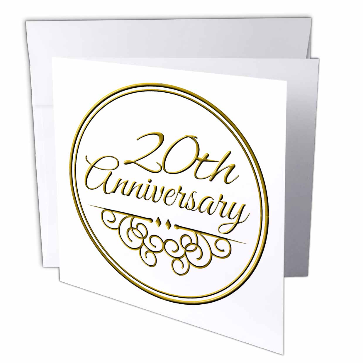3dRose 20th Anniversary gift - gold text for celebrating wedding anniversaries - 20 years married together Greeting Cards 6 x 6 inches ...  sc 1 st  Walmart & 3dRose 20th Anniversary gift - gold text for celebrating wedding ...