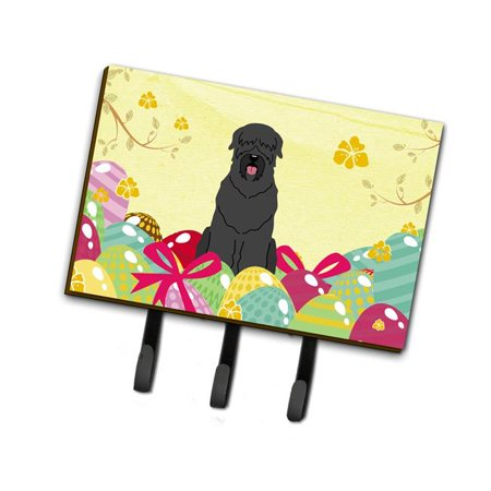 Carolines Treasures Bb6026th68 Easter Eggs Black Russian Terrier Leash Or Key Holder Walmart Com Walmart Com