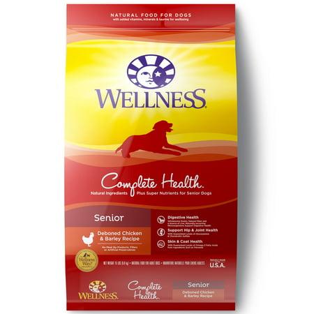 Wellness Complete Health Senior Deboned Chicken & Barley Natural Dry Dog Food, 15 Lb