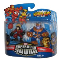 Marvel Super Hero Squad Captain Marvel & Thanos Figure Set 2-Pack