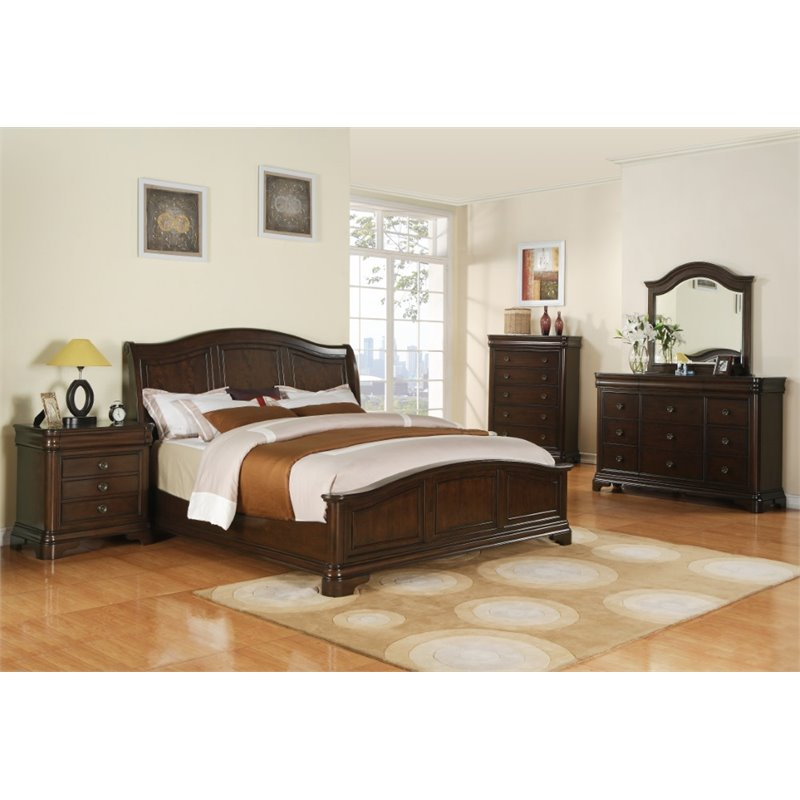 Picket House Furnishings Conley 6 Piece King Bedroom Set in Cherry