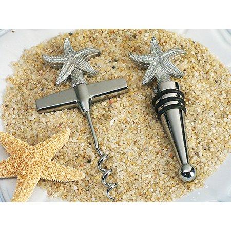 Theme Wine Stopper - Beach theme Starfish Wine Opener, Wine stopper set