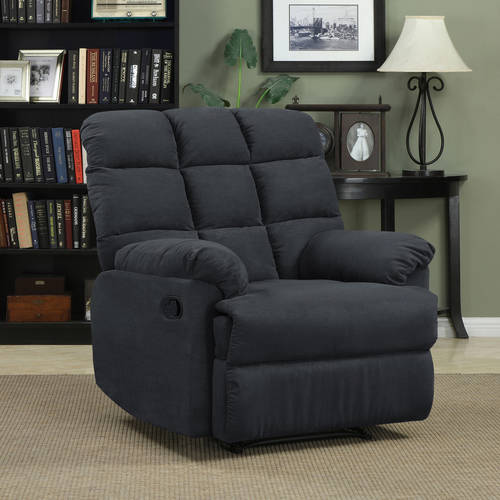 Mainstays Baja Wall Hugger Microfiber Biscuit back Recliner Chair, Multiple Colors
