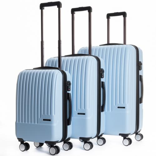 CalPak Davis Expandable 3-Piece Hardside Spinner Luggage Set Light Blue