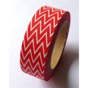 Love My Tapes Washi Tape 15mmX10m-Red Skinny Minnie Zigzag
