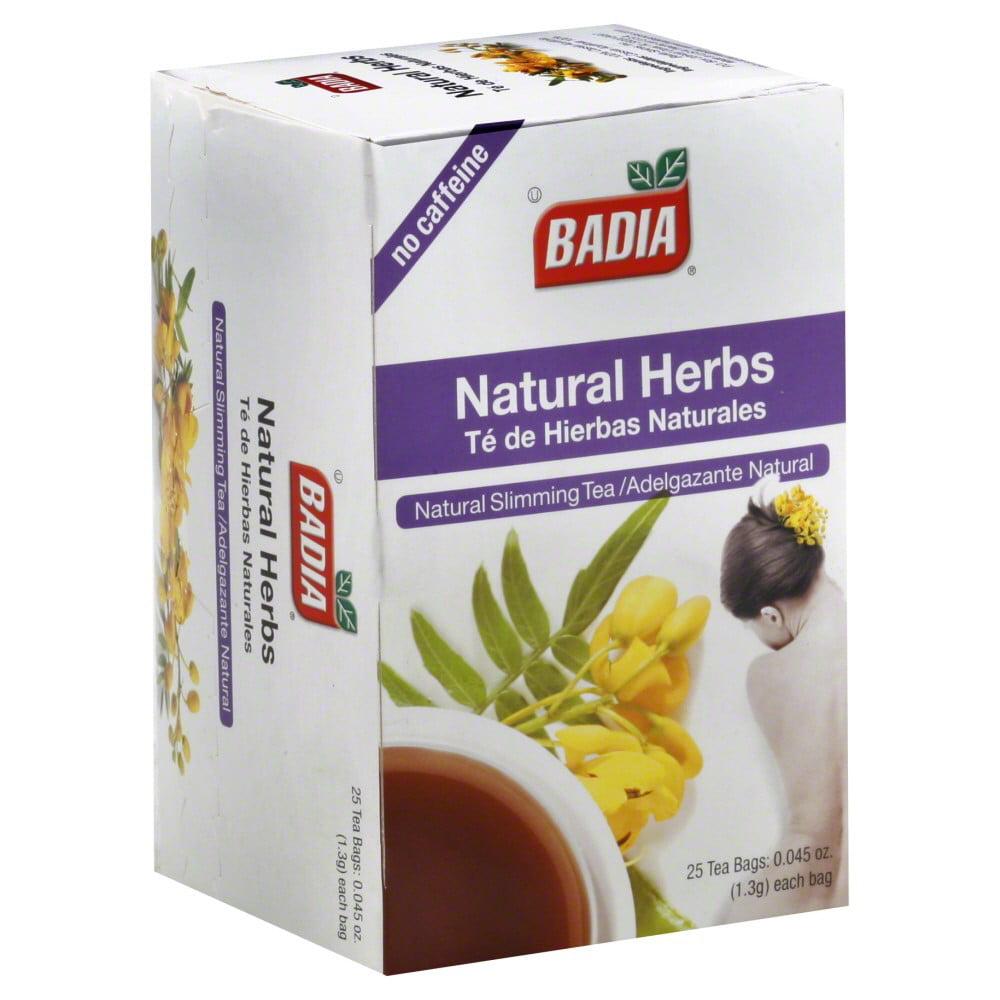Badia Natural Herbs Tea Bags, 25 ct, 1.125 oz by Badia Spices
