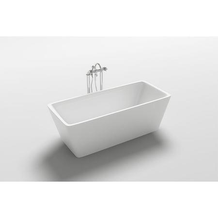 "Kokss Garda 67"" Freestanding Soaking Rectangular Bathtub"