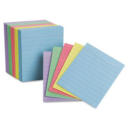 Ruled Mini Index Cards- 3 x 2 1/2- Assorted- 200/Pack